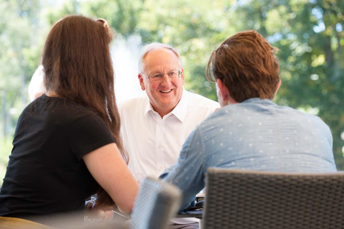 Oberbürgermeister Jürgen Großmann im Gespräch