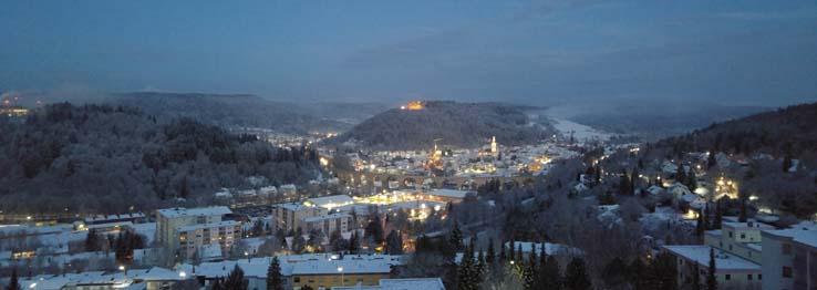 Stadtansicht mit Winterstimmung