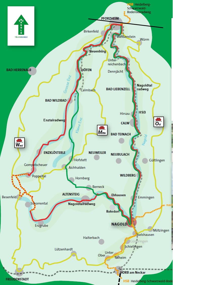 Tälerrunde Enztal-Nagoldtalradweg
