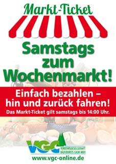 Broschüre zum Nagolder Wochenmarkt