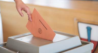 Beispielbild mit Wahlurne