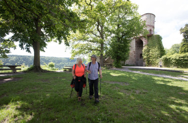 Picknick auf der Burgruine Hohennagold