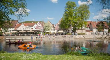 Ansicht Longwyplatz vom Stadtpark Kleb