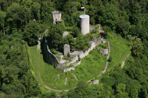 Burgruine Hohennagold Luftansicht
