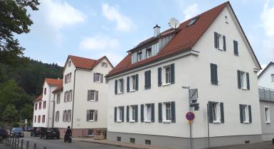 Häuserreihe im Sanierungsgebiet Stadtmitte Nord