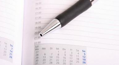 Bildausschnitt eines Kalenders