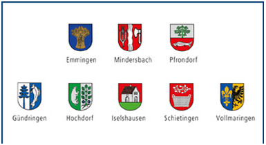 Wappen der Stadtteile