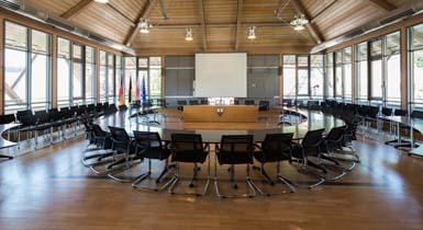 Der Sitzungssaal im Rathaus