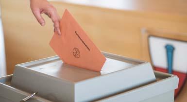 Stimmzettel und Wahlurne