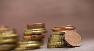 Münzen als Schmuckbild für den städtischen Haushalt