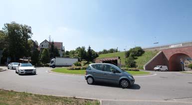 Kreisverkehr in der Herrenberger Straße