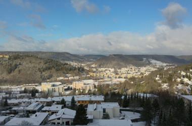 Stadtpanorama Nagold verschneit