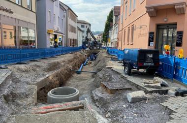Ansicht Waldachstraße während der Bauphase