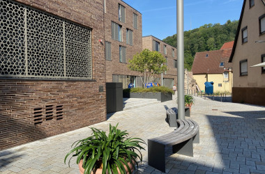 Ansicht Platzgestaltung Anker-Areal Stadtgraben nach Sanierung