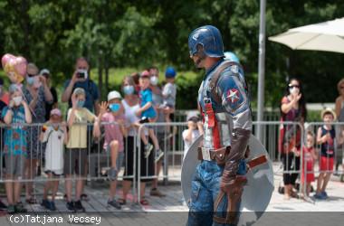 Captain America auf dem Longwyplatz