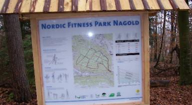 Starttafel des Nordic Fitness Park Nagold