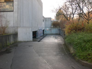 Einfahrt Tiefgarage Gymnasium
