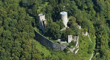 Luftbild Burgruine Hohennagold