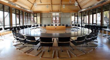 Der Sitzungssaal im Nagolder Rathaus