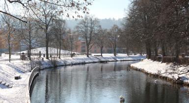 Stadtpark Kleb im Winter