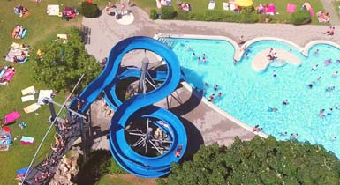 Luftbild Badepark