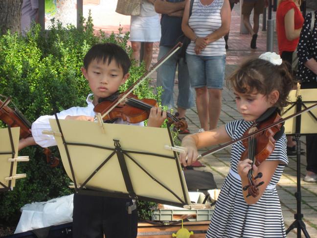 Bei der Musikalischen Promenade am 4. August zeigen auch die jüngsten Teilnehmer ihr Können. (Foto: Sommermusik)