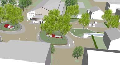 Visualisierung des künftigen Stadtraums in der Calwer Straße