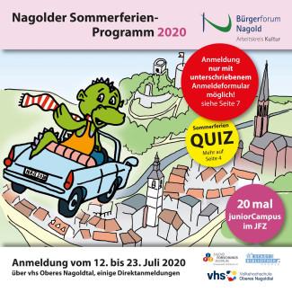 Titelbild des Sommerferienprogramms 2020