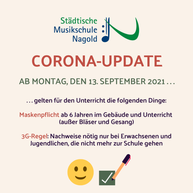 Corona Update (Stand 08.09.2021)