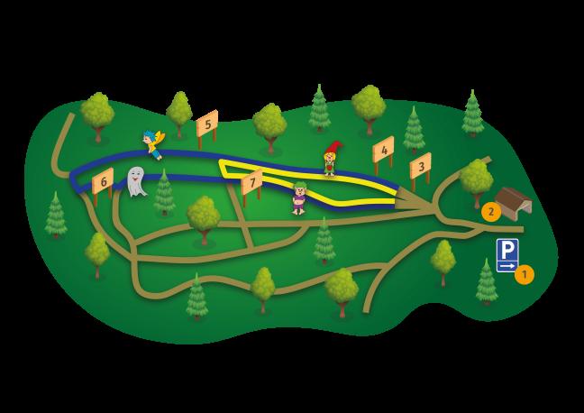 Karte Zauberwald
